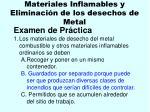 materiales inflamables y eliminaci n de los desechos de metal111
