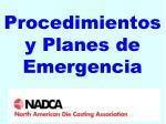 procedimientos y planes de emergencia