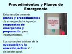procedimientos y planes de emergencia25