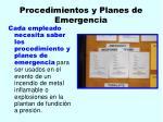 procedimientos y planes de emergencia26