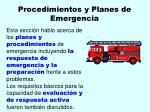 procedimientos y planes de emergencia39
