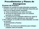 procedimientos y planes de emergencia40