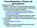 procedimientos y planes de emergencia41
