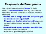 respuesta de emergencia