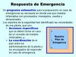 respuesta de emergencia35