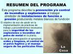 resumen del programa