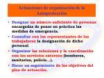 actuaciones de organizaci n de la autoprotecci n