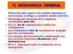 c emergencia general