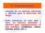 d comunicaciones