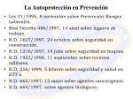 la autoprotecci n en prevenci n