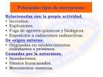 principales tipos de emergencias
