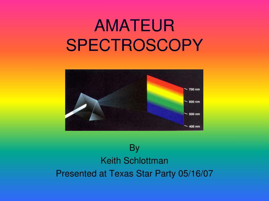 amateur spectroscopy l.