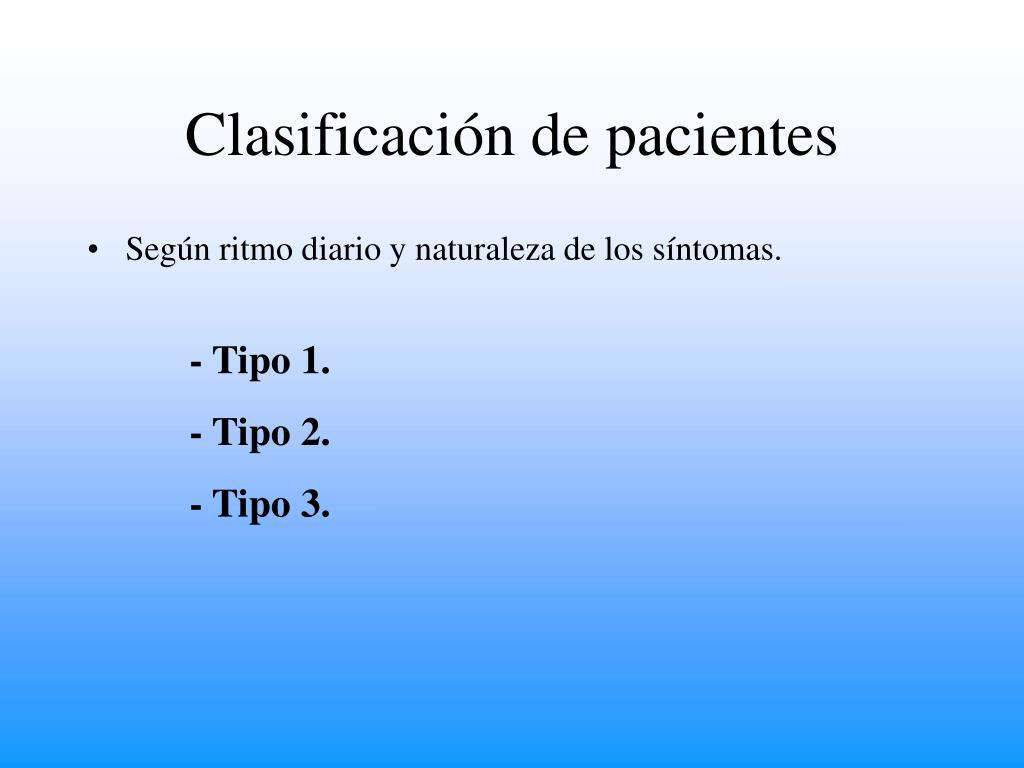 Clasificación de pacientes