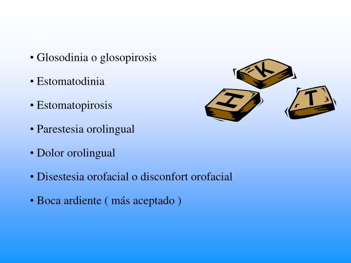 Glosodinia o glosopirosis