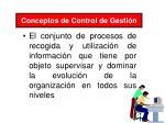 conceptos de control de gesti n