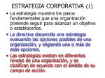 estrategia corporativa 1