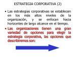 estrategia corporativa 2