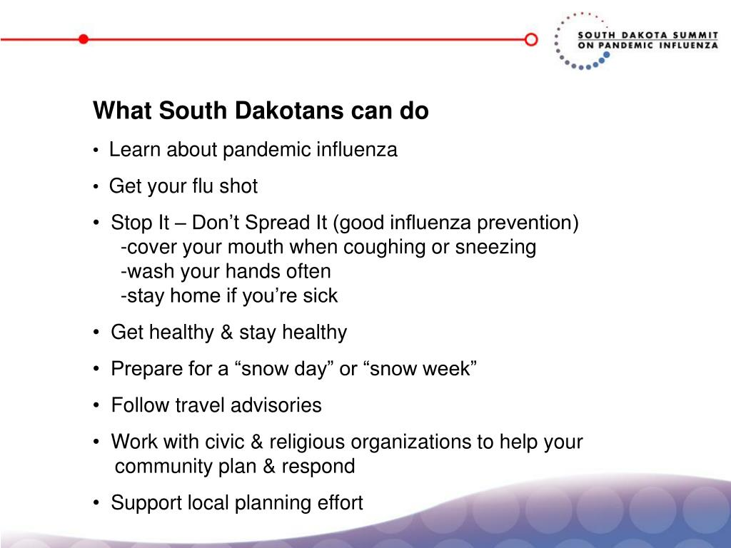 What South Dakotans can do