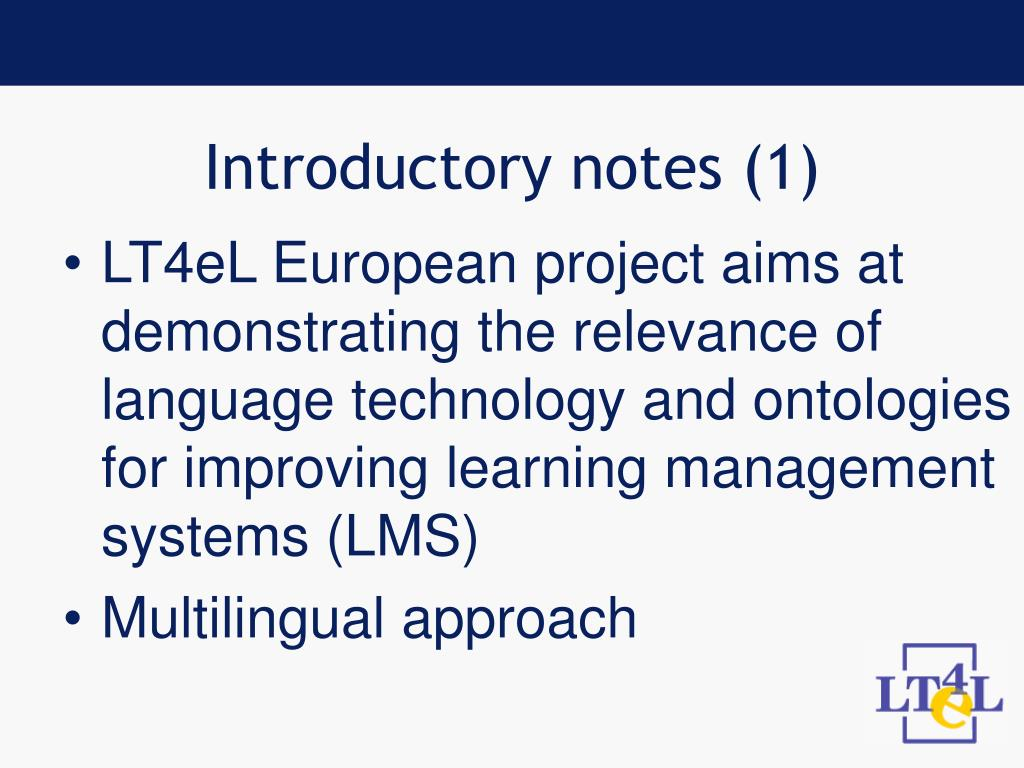 Introductory notes (1)