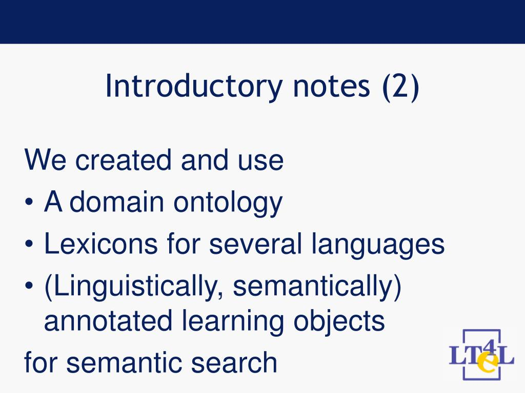 Introductory notes (2)