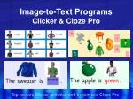 image to text programs clicker cloze pro