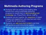 multimedia authoring programs