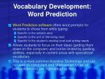 vocabulary development word prediction