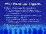 word prediction programs