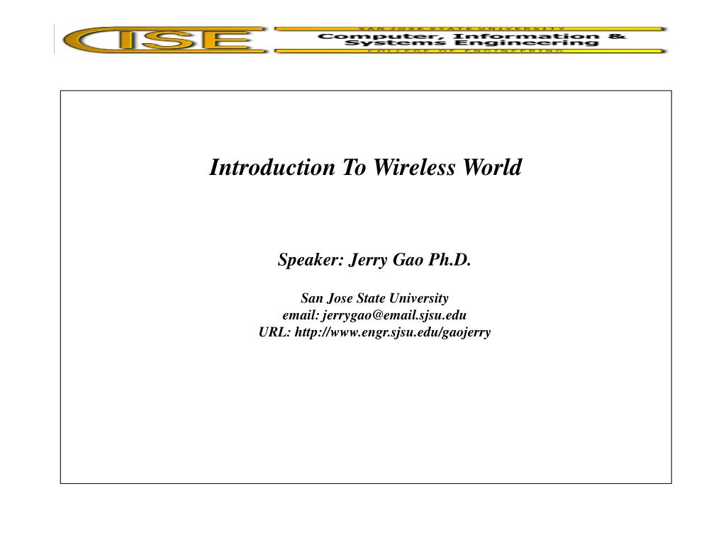 introduction to wireless world l.