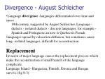divergence august schleicher