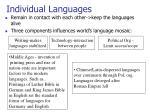individual languages