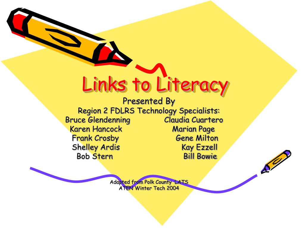 links to literacy l.