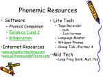 phonemic resources
