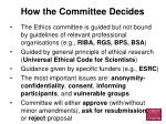 how the committee decides