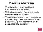providing information11