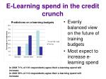 e learning spend in the credit crunch