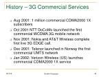 history 3g commercial services