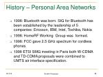 history personal area networks