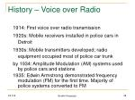 history voice over radio