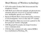 brief history of wireless technology