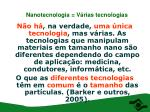 nanotecnologia v rias tecnologias