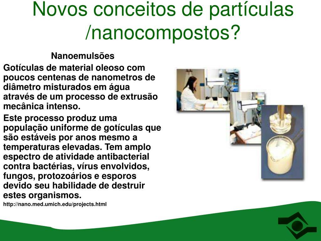 Novos conceitos de partículas /nanocompostos?