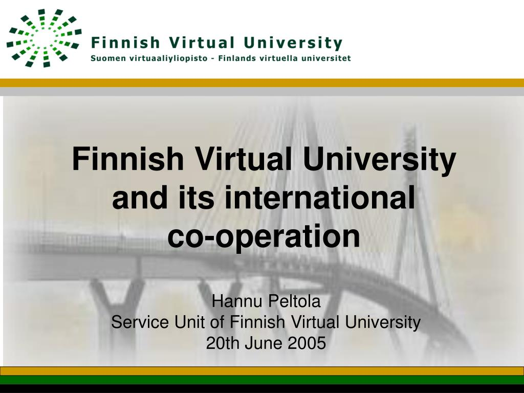 finnish virtual university and its international co operation l.