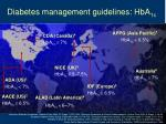 diabetes management guidelines hba 1c