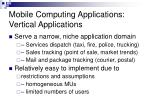 mobile computing applications vertical applications