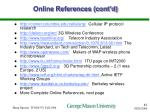 online references cont d