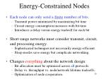 energy constrained nodes