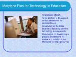 maryland plan for technology in education