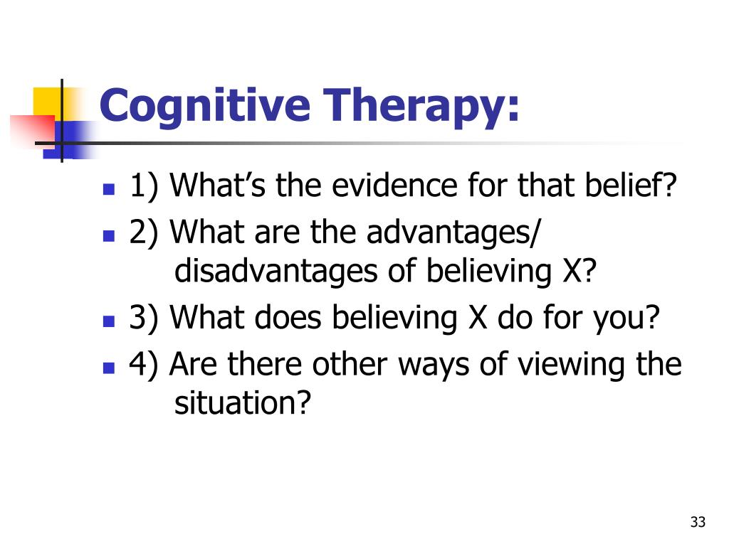 Cognitive Therapy: