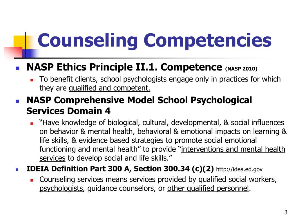 Counseling Competencies